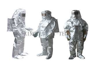 کیفیت خوب پارچه فایبر گلاس مقاوم در برابر آتش & High Temperature Aluminized Fire Proximity Protective Clothing Suit Thermal Insulation حراج